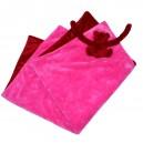 Couverture eurobear capuche rose