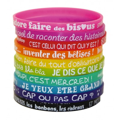 Set 10 bracelets silicone kid