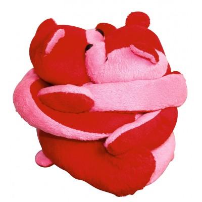 Eurobear velours rose et rouge