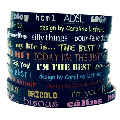 Set de 10 bracelets Best noir