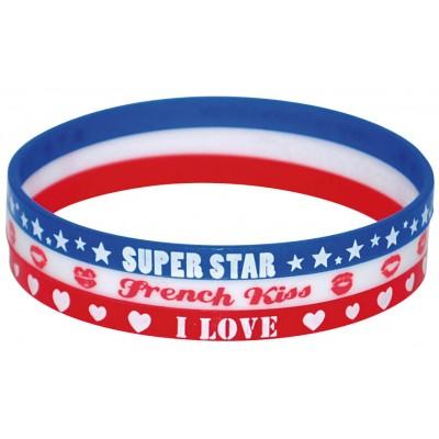 """Set de 3 bracelets """"je vote pour"""""""
