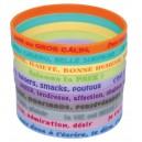 Bracelets silicone Sentiments